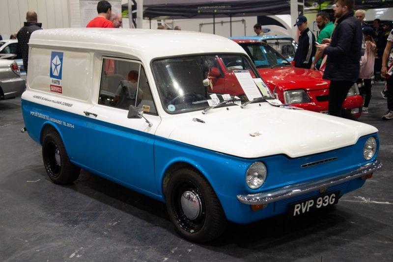 Classic car HILLMAN IMP in car show GOODWOOD FESTIVAL OF SPEED.