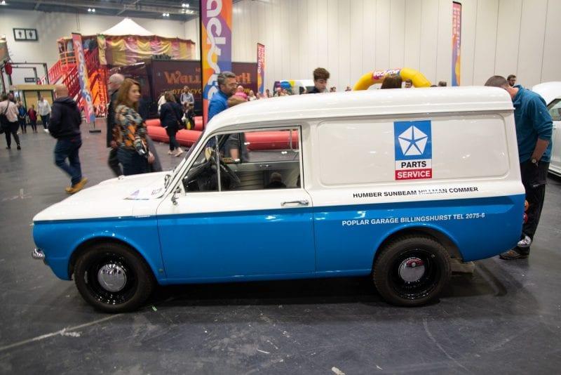 Classic car Hillman Imp Van in car show GOODWOOD FESTIVAL OF SPEED.