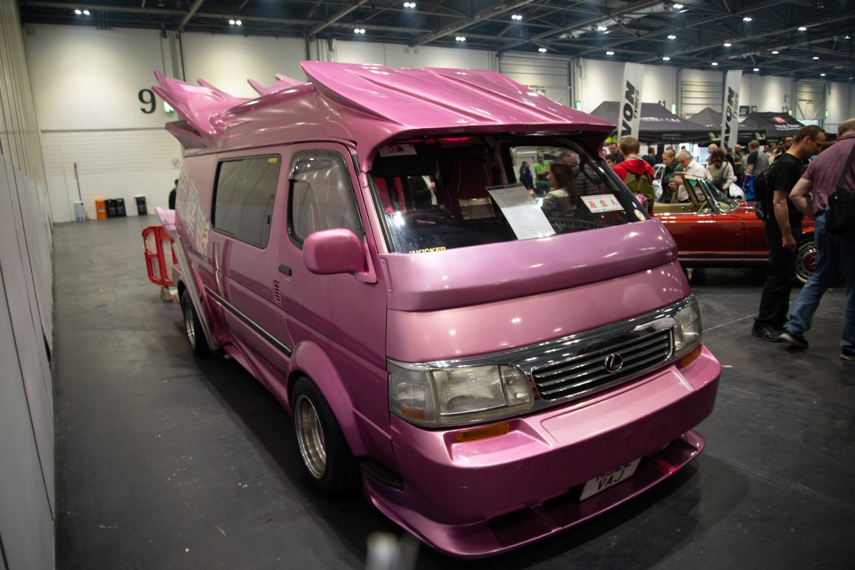 Toyota Hiace from Bosozoku culture in London Motor Show