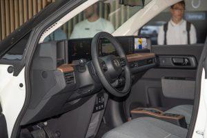 Honda e electric car interior. Best choice for city.