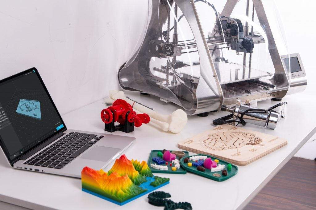 3d printer and printed products