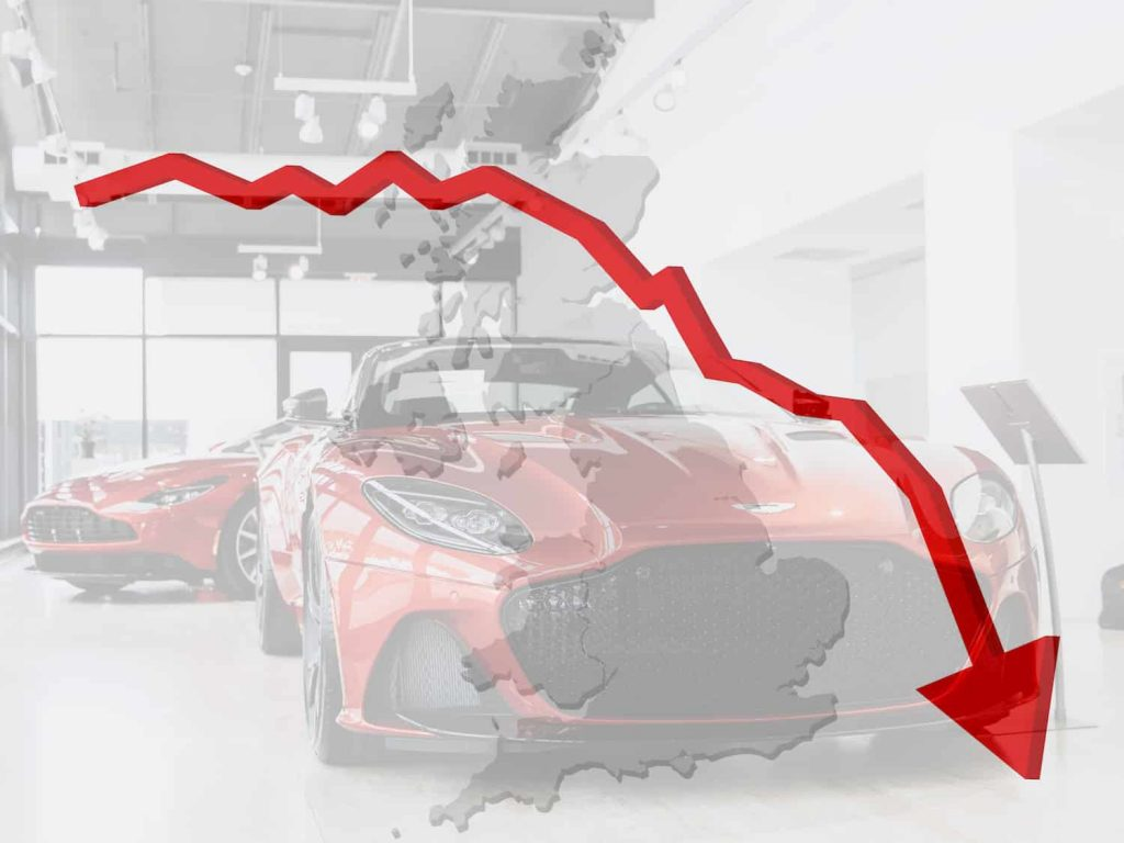 new car sales fell in uk