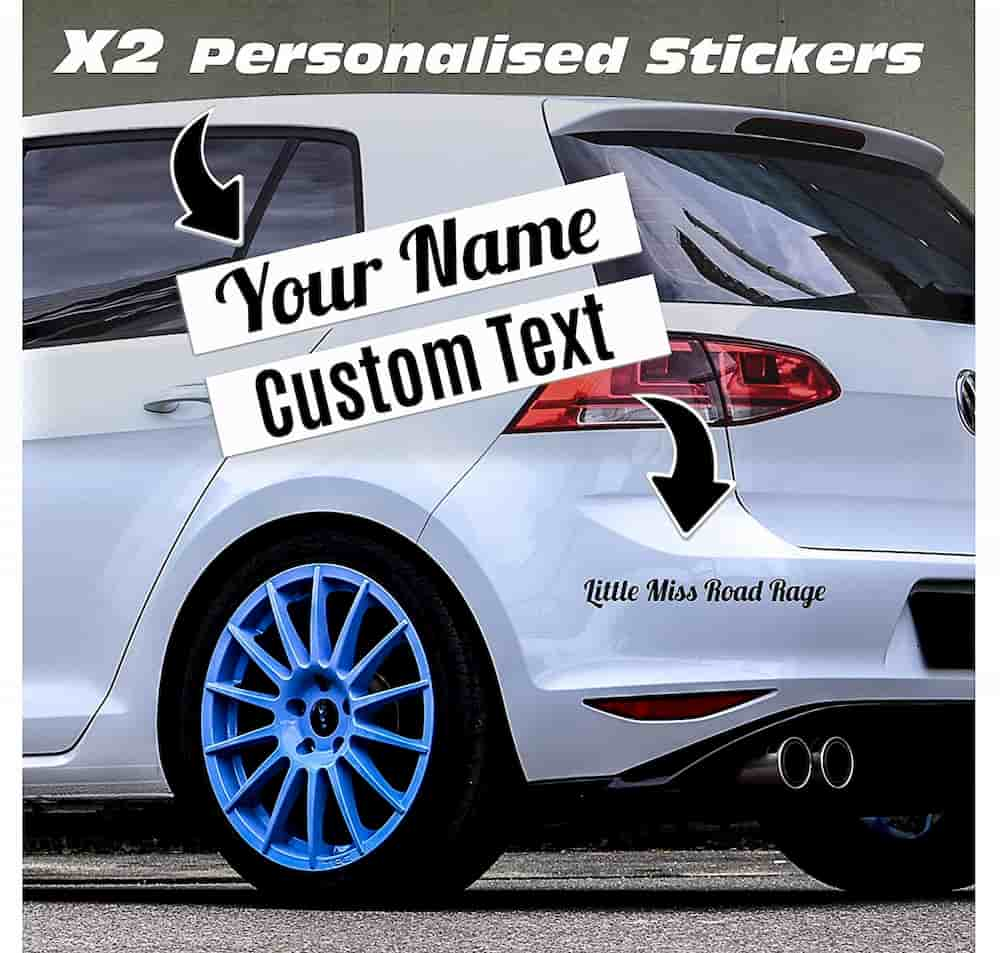 Car decoration ideas for your vehicle - Custom Text Car Sticker