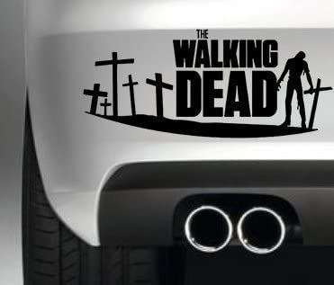 Car decoration ideas for your vehicle - The Walking Dead Zombie Sticker