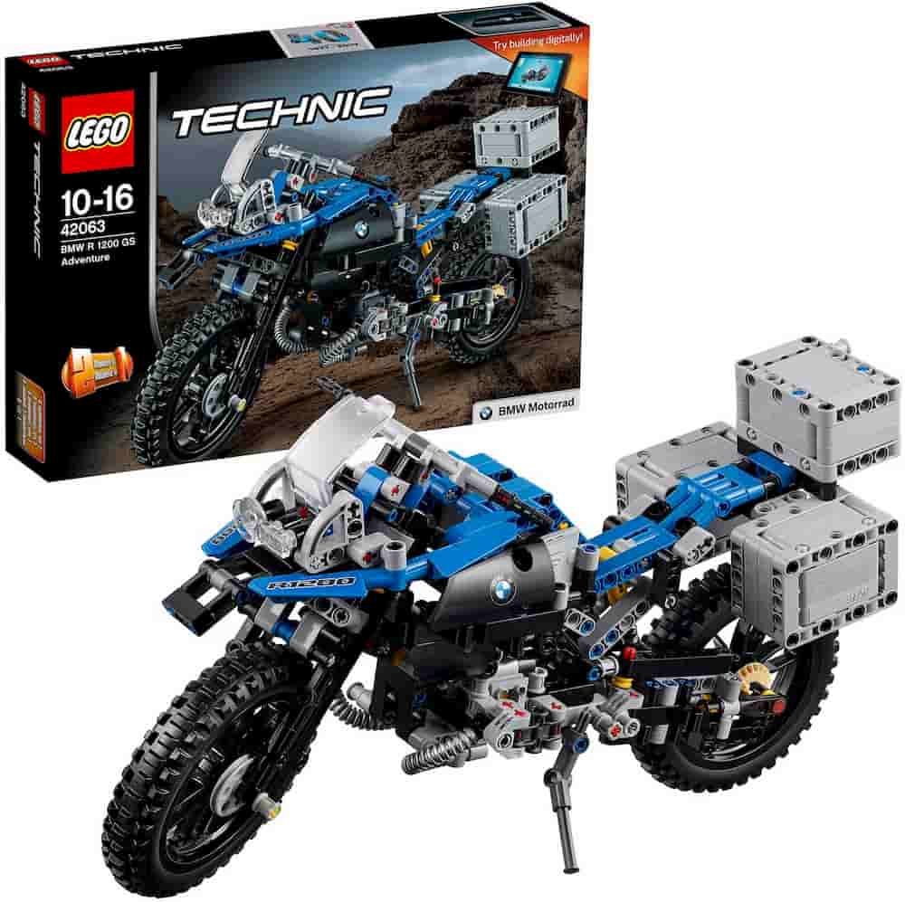 BMW R 1200 GS Adventure Motorbike, 2 in 1 Model, BMW Design, Concept Building Playset