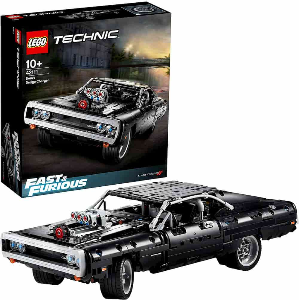 Fast and Furious Dom's Dodge Charger is one of the Best Lego Technic Sets For Adults - gift idea