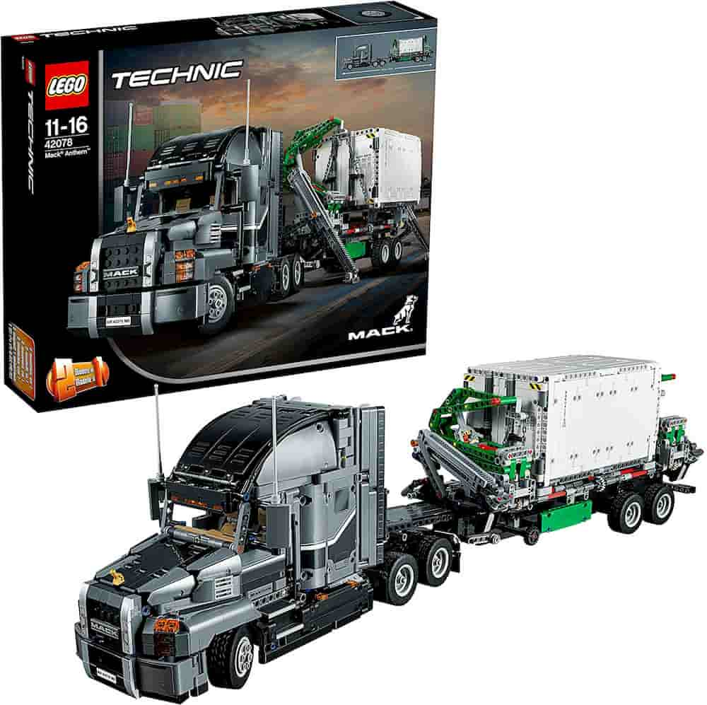 Mack Anthem 2 in 1 Garbage Truck Model, Advanced Building Set