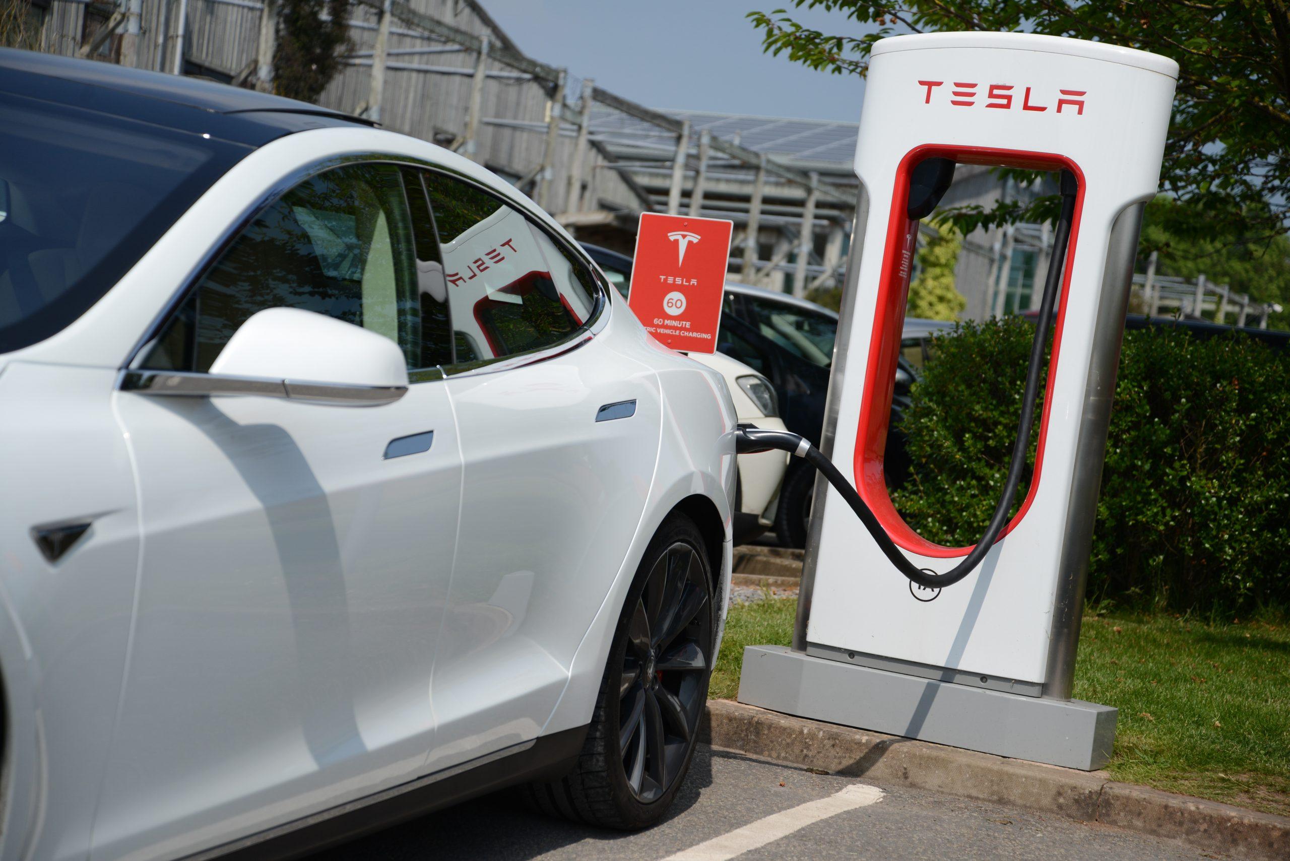 tesla model s charging station
