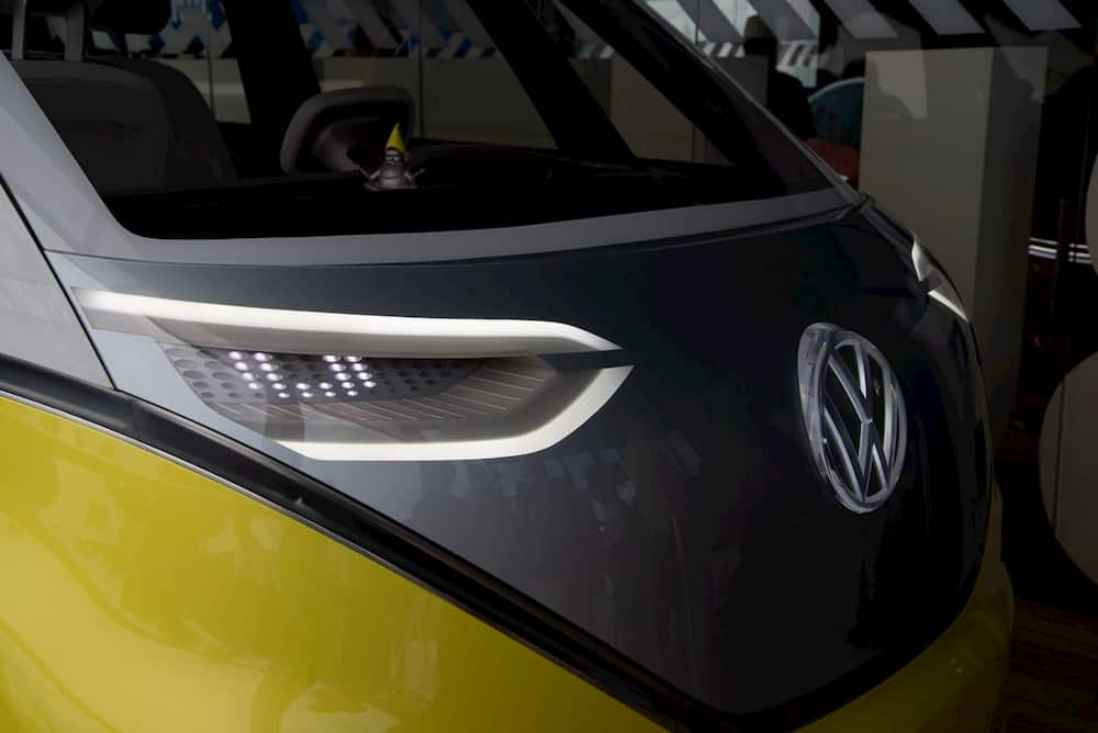 Electric Campervan VW ID Buzz front headlights