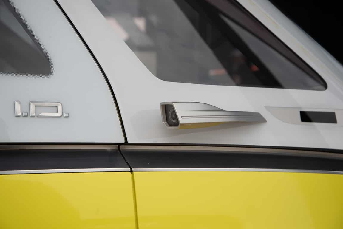 Electric Campervan VW ID Buzz side camera mirrors
