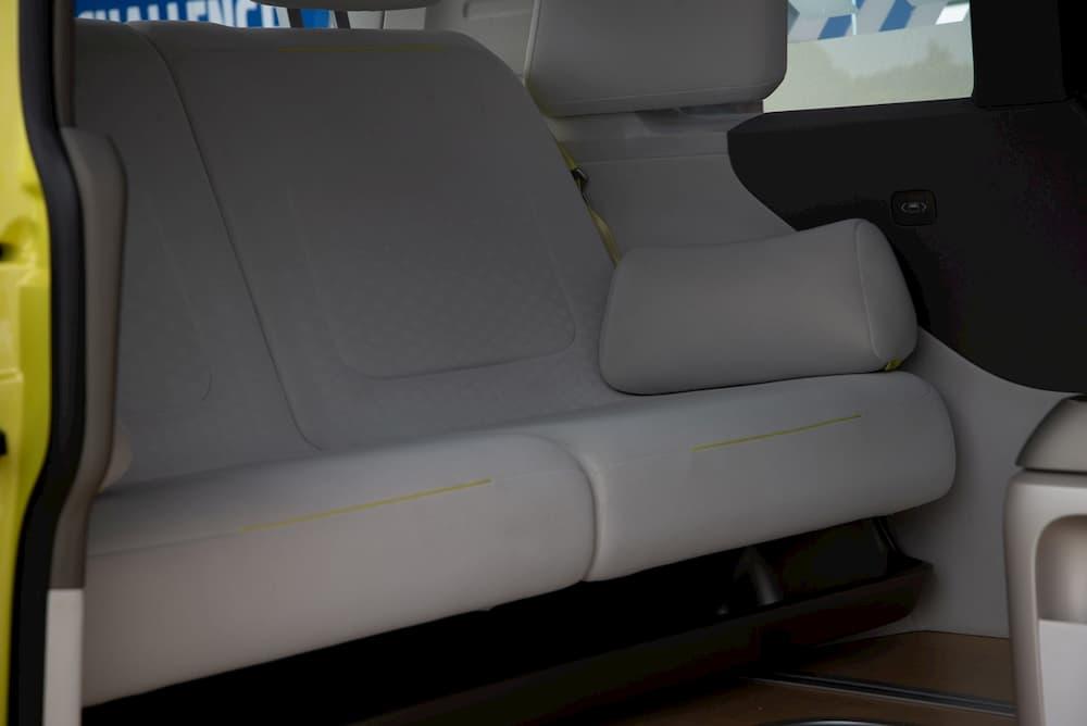 Electric Campervan VW ID Buzz rear seats