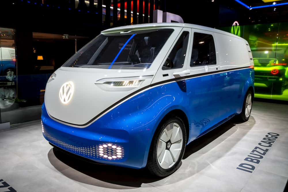 Electric Campervan VW ID Buzz Cargo from the front side