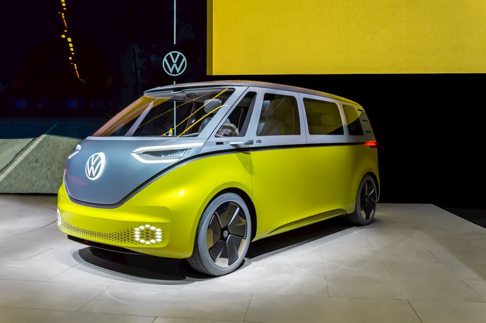Electric Campervan VW ID Buzz during the presentation