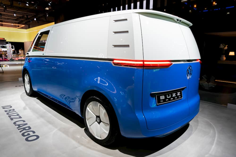 Electric Campervan VW ID Buzz Cargo from the back