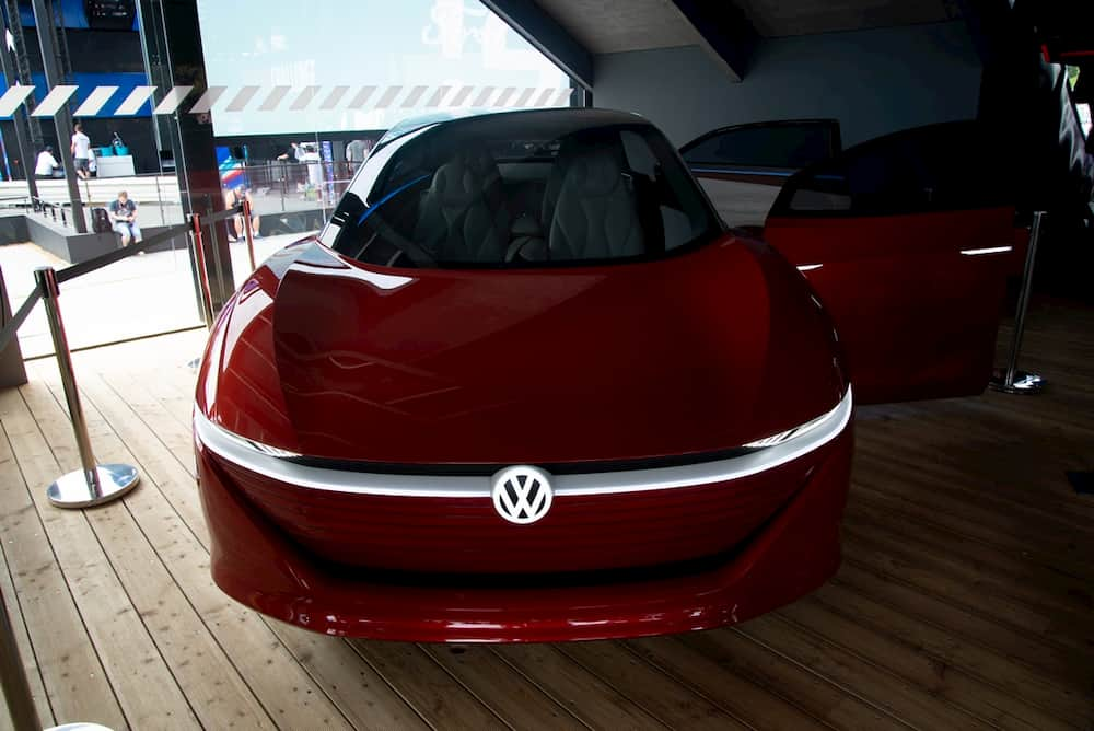 vw id vizzion electric concept car from the front