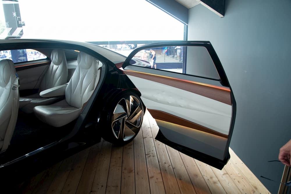 vw id vizzion electric concept car rear passenger doors