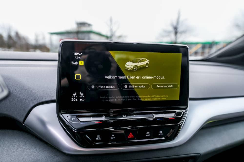 VW ID4 INTERIOR DISPLAY
